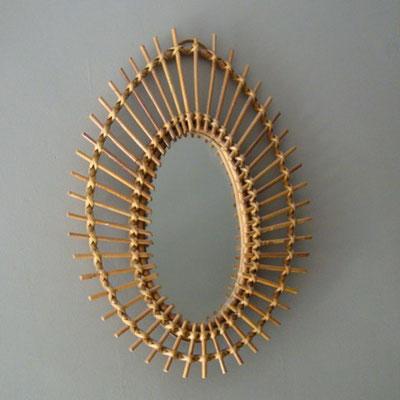 miroir rotin oeil ref.14/0132-2