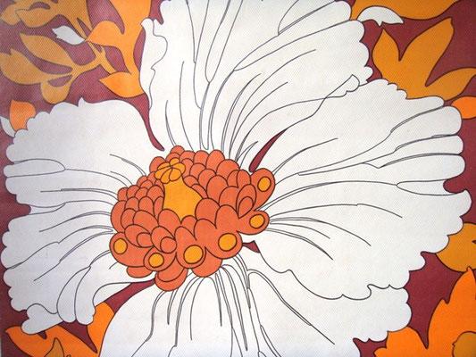 papier peint tapisserie vintage grosses fleurs muros design et vintage en bourgogne. Black Bedroom Furniture Sets. Home Design Ideas