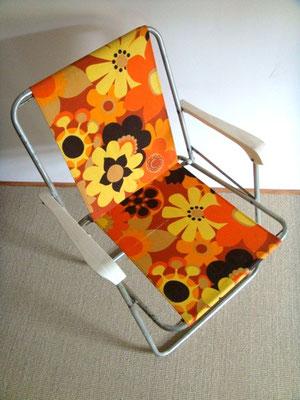 Chaise de camping vintage