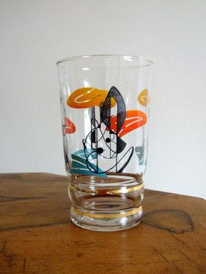 verres vintage Miro années 50