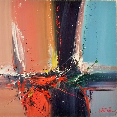 Peinture abstraite Spin Art John Thery