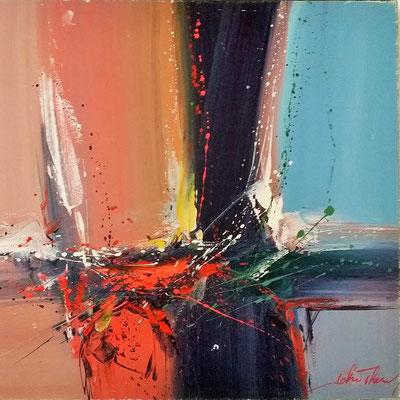 Peinture abstraite Spin Art John Thery