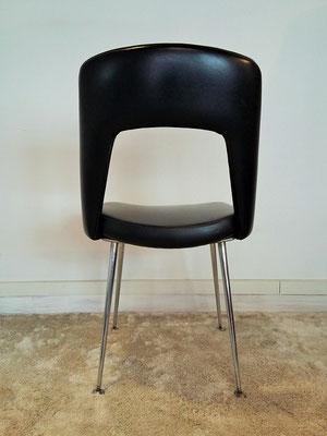 Chaise chrome skaï noir vintage