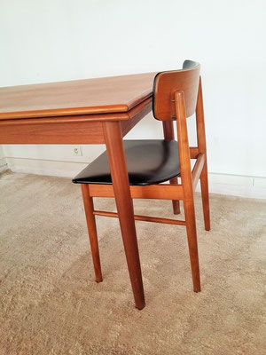 Table teck scandinave vintage