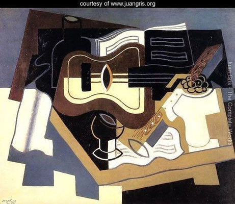 "Reproduction""Guitare et clarinette"" de Juan Gris"