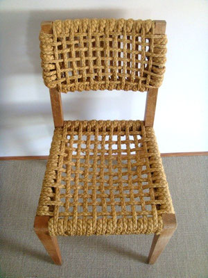 Chaise corde Audoux Minet vintage