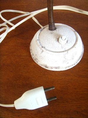 Petite lampe de bureau beige vintage