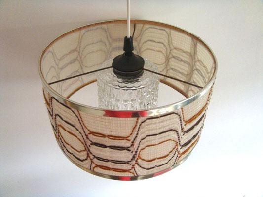 Suspension vintage verre et tissus