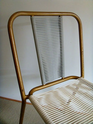 Chaise bistrot scoubidou vintage