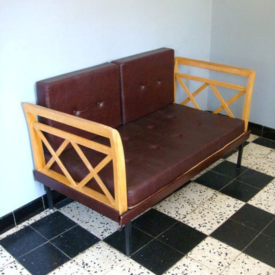 Banquette daybed vintage années 50