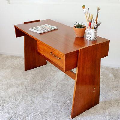 Bureau bois minimaliste années 70 80
