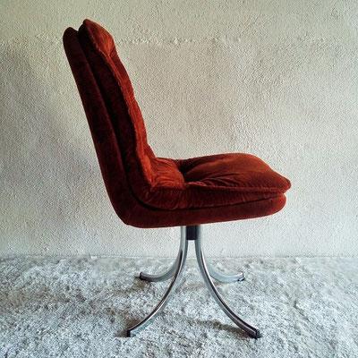 Chaise pivotante velours vintage