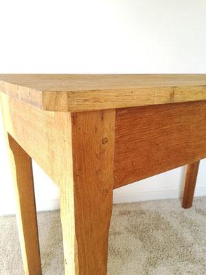 Petite table de ferme cuisine chêne
