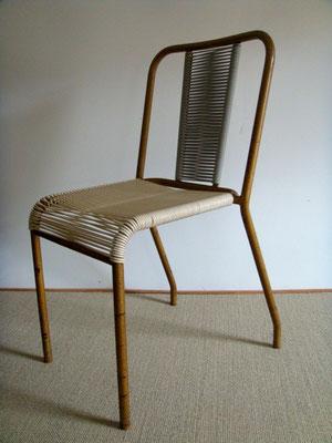 Chaise bistrot scoubidou vintage