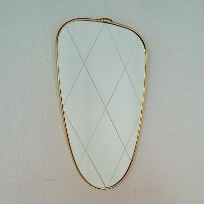 Miroir ciselé laiton vintage