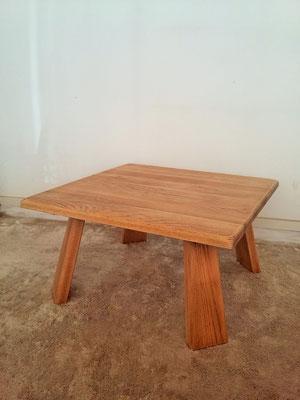 Table basse chêne massif vintage années 50