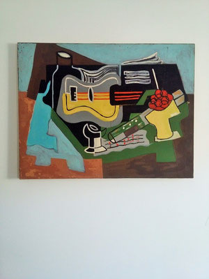 Peinture cubiste vintage