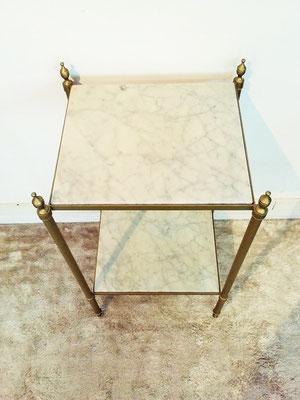 Sellette marbre et laiton