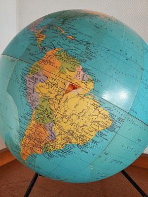 Mappemonde / globe terrestre vintage