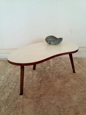 Table basse tripode palette vintage