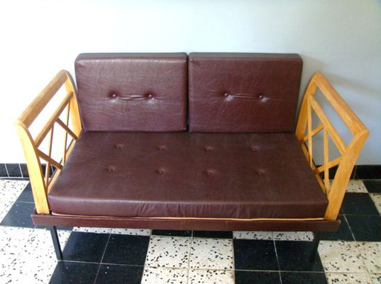 banquette daybed années 50 vintage