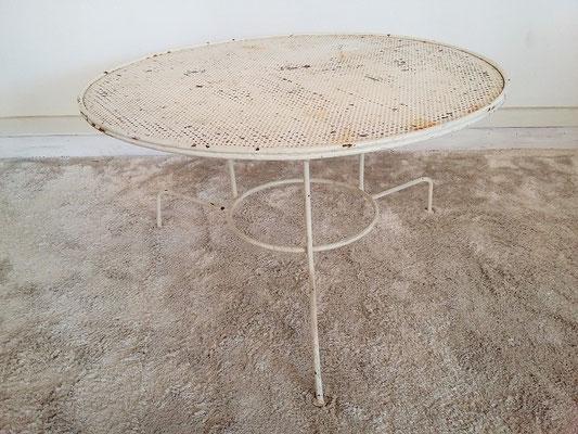 Table basse de jardin tripode métallique vintage