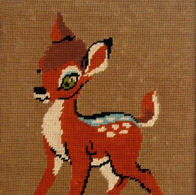 Tapisserie Bambi vintage