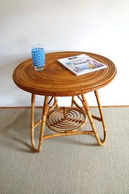 table tripode tout rotin