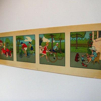 chromolythographies pour frises chambre d'enfant