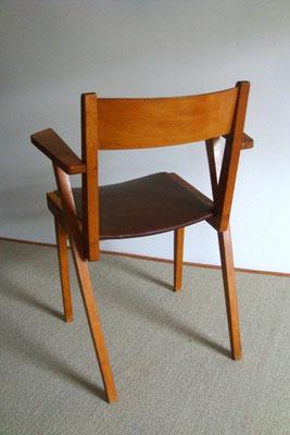 Chaise à accoudoirs années 60