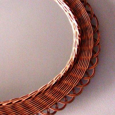 miroir osier ovale ref.14/0137
