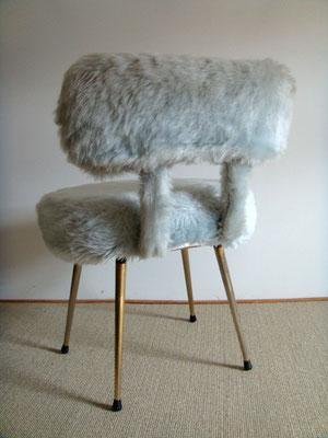 fauteuil moumoute vintage