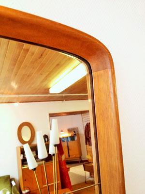 Grand miroir à poser teck vintage