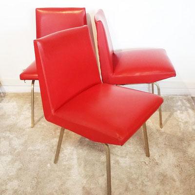 Chaises skaï vintage