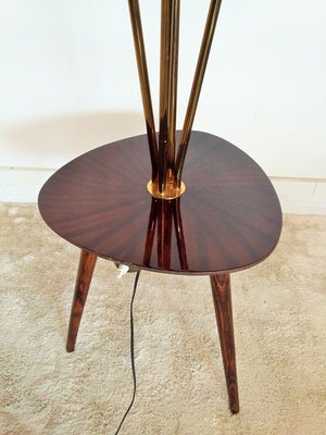 Lampadaire table tripode vintage