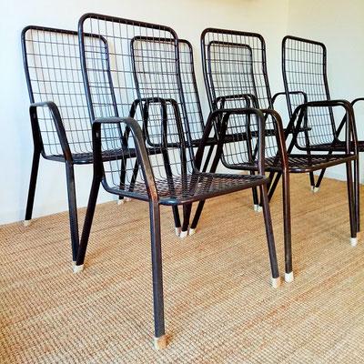 Suite de fauteuils haut Emu Rio marron vintage