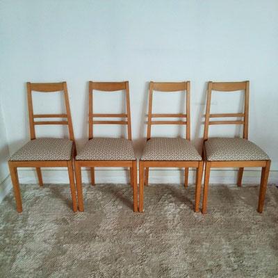 Chaises chêne vintage