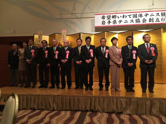 功労賞を受賞された皆さん。ロング会員では山崎 真さん、志田 毅さん、神 初見さんが受賞されました。