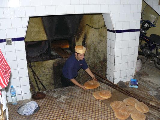 Travail du boulanger