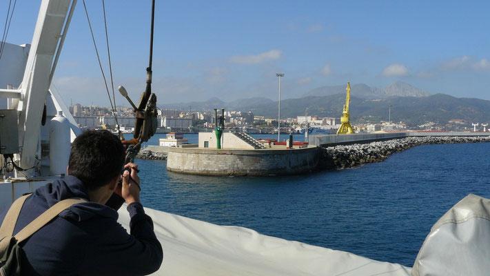 1 h plus tard, nous sommes à Ceuta