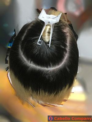 Tressen  Haarverlängerung mit hochwertigem blondem Echthaar - Cabello Company Frankfurt