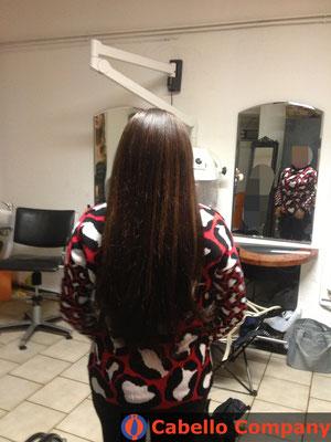 Loses Echthaar  Haarverlängerung mit der brasilianischen Methode mit hochwertigem  Echthaar - Cabello Company Frankfurt