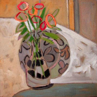 Vase - Acrylique sur toile - 50x50 cm(NAT06)