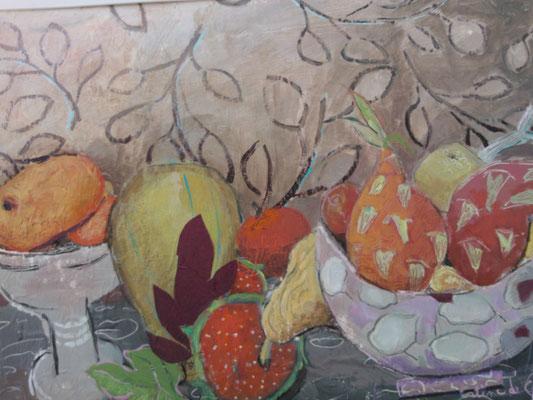 Nature morte -  Collage et acrylique - 70x100 cm (COL12)