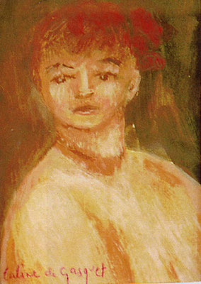Portrait - Huile sur toile - 23x17 cm - 2000 (POR08) VENDU