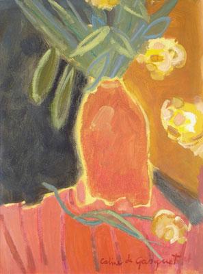 Fleurs - Acrylique sur papier - 50x50 cm (NAT48)
