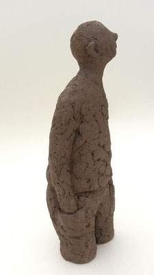 Homme paisible - Terre cuite - 30x12 cm (SCP31)