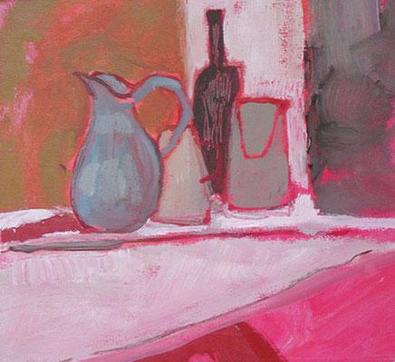 Cruches - Huile sur papier - 50x50 cm (NAT03)