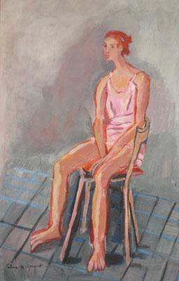 Julie - Acrylique sur papier - 65x50 cm (MOD23)