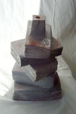 Lampe-Livres - Terre cuite - 62x17 cm (SCO01)